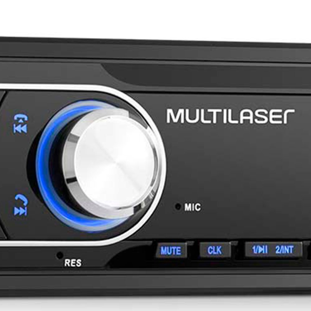 Som Automotivo New Max 4x45w Bluetooth Rádio FM Entradas USB P2 e SD Card  - Imagem zoom