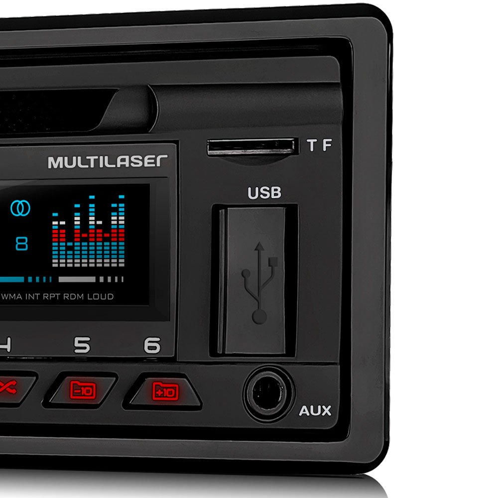 Som Automotivo Disco com CD Player e Bluetooth - Imagem zoom