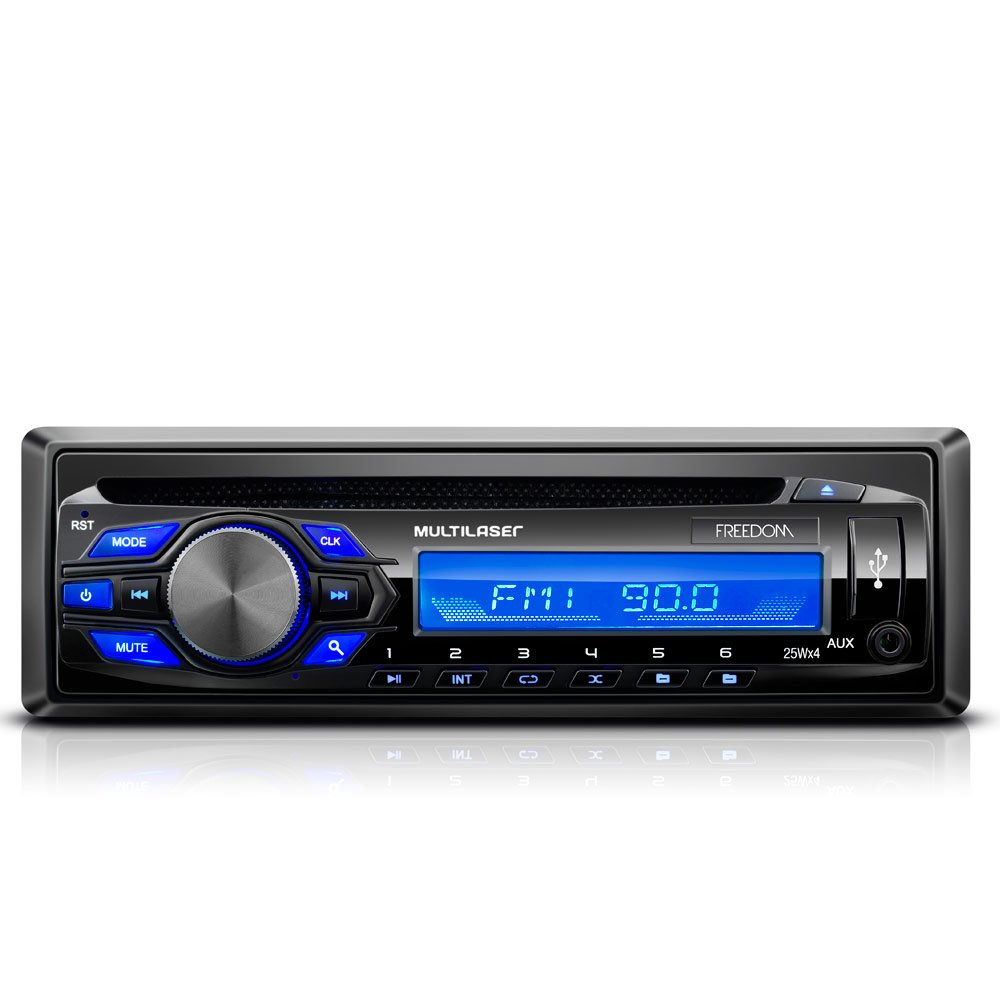 Som Automotivo Freedom CD e MP3 Player - Imagem zoom