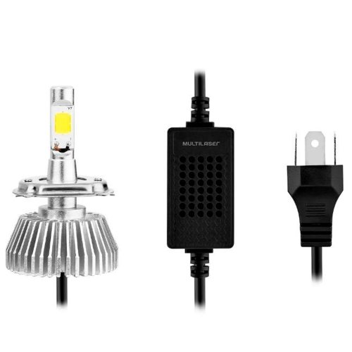 par de lâmpadas automotiva super led h3 12v 55w 6200k