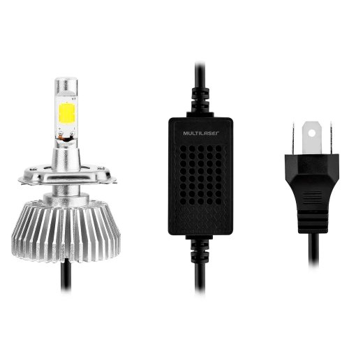 par de lâmpadas automotiva super led h8 12v 30w 6200k