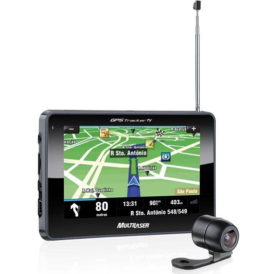 GPS Tracker Touchscreen 4.3 Pol. com TV Digital e Câmera - Imagem zoom