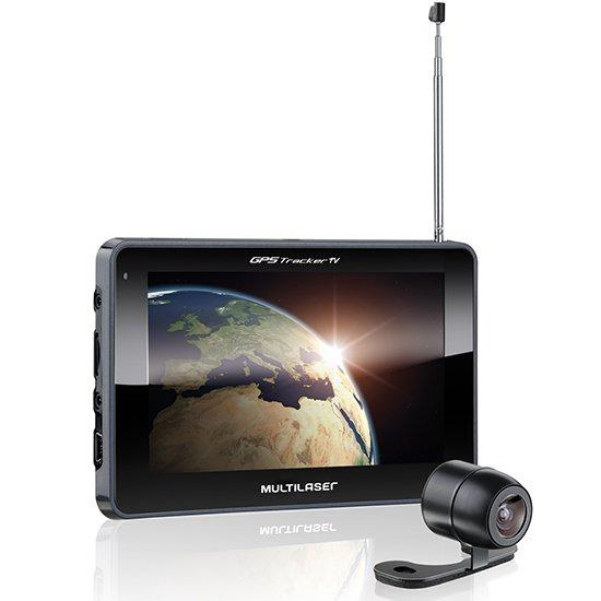 GPS Tracker Touchscreen 7.0 Pol. com TV Digital e Câmera de Ré - Imagem zoom