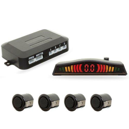 sensor de estacionamento 4 pontos preto com display led colorido