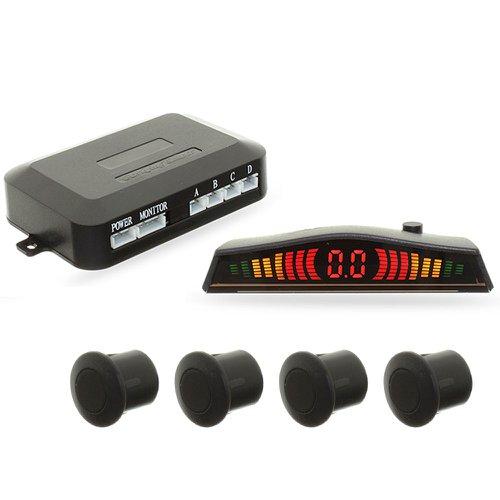 sensor de estacionamento 4 pontos preto emborrachado com display led colorido