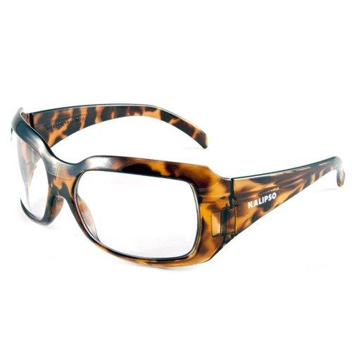óculos de proteção ibiza incolor com armação marrom