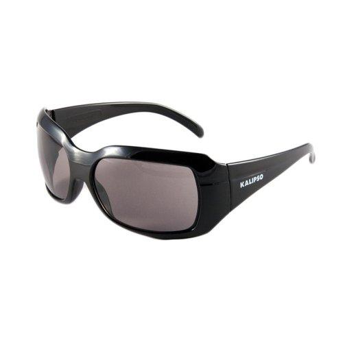 óculos de segurança cinza com armação preta - ibiza