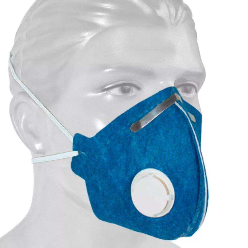 Respirador Descartável PFF1 Contra Poeira e Névoas com Válvula - Imagem zoom