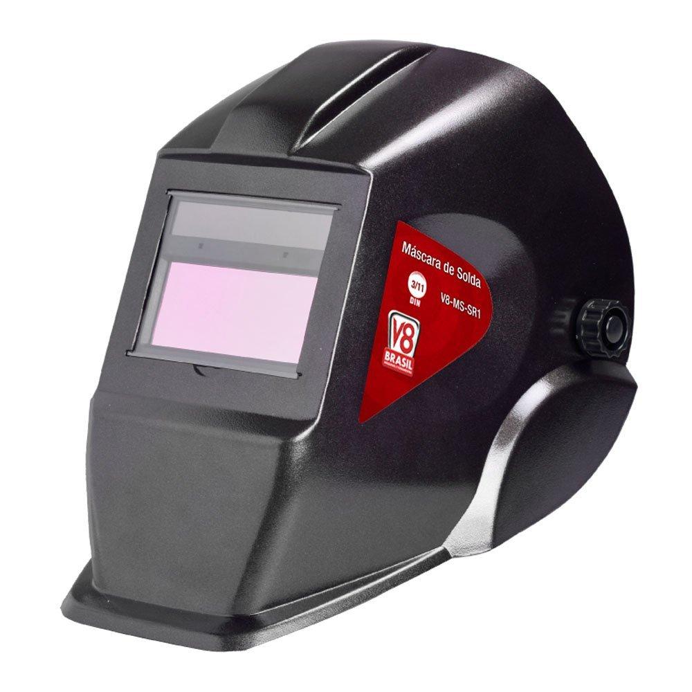 Kit Máscara de Solda Automática V8 Brasil MSSR1 + Eletrodo 6013 Titanium 4870 - Imagem zoom