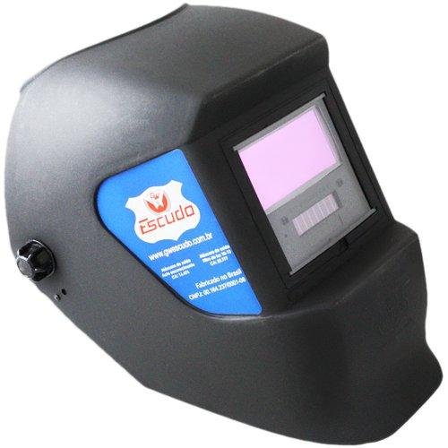 máscara de solda com escurecimento automático e regulagem 9 a 13