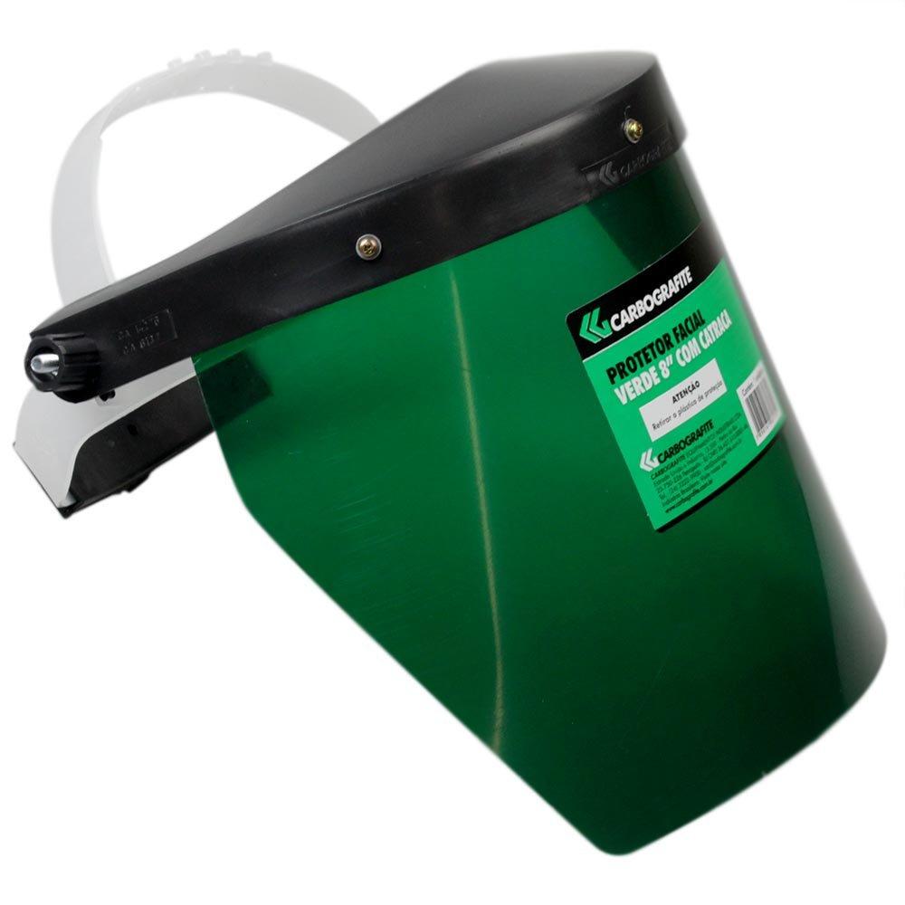 Protetor Facial Verde CG 8 Pol. com Catraca - CARBOGRAFITE-010227010 ... 99e837c04a