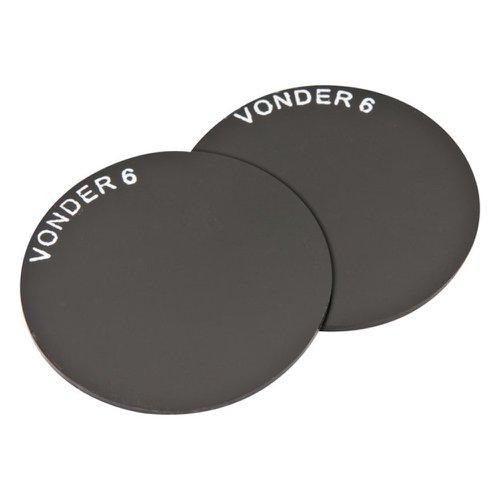 lente redonda verde para máscara/escudo de solda de 50 mm ton 6