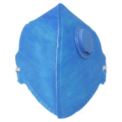 respirador semi-facial pff2 dobrável com válvula com 20 unidades