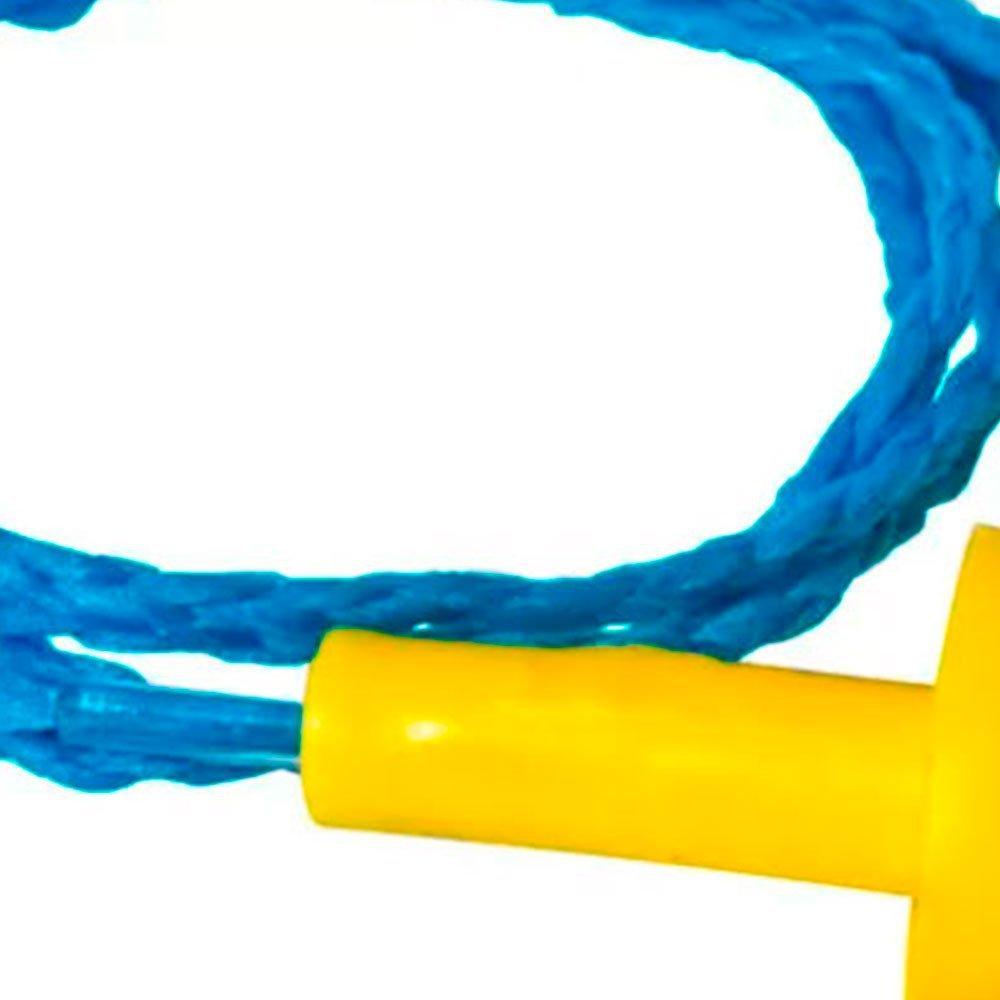 Kit Protetor Auricular tipo Plug em Copolímero com Cordão em Algodão com 10 Unidades - Imagem zoom