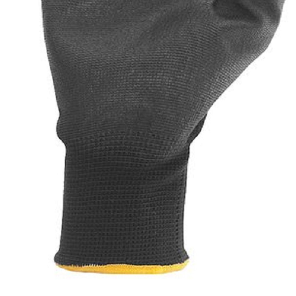 Luva de Poliéster com Poliuretano Tamanho 10 Preta - Imagem zoom