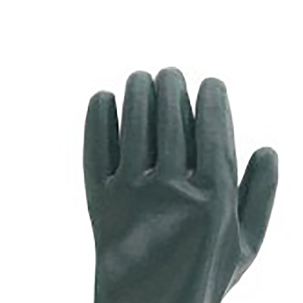 Luva de PVC Áspera com Forro Encartelada Tamanho 10 27cm - Imagem zoom