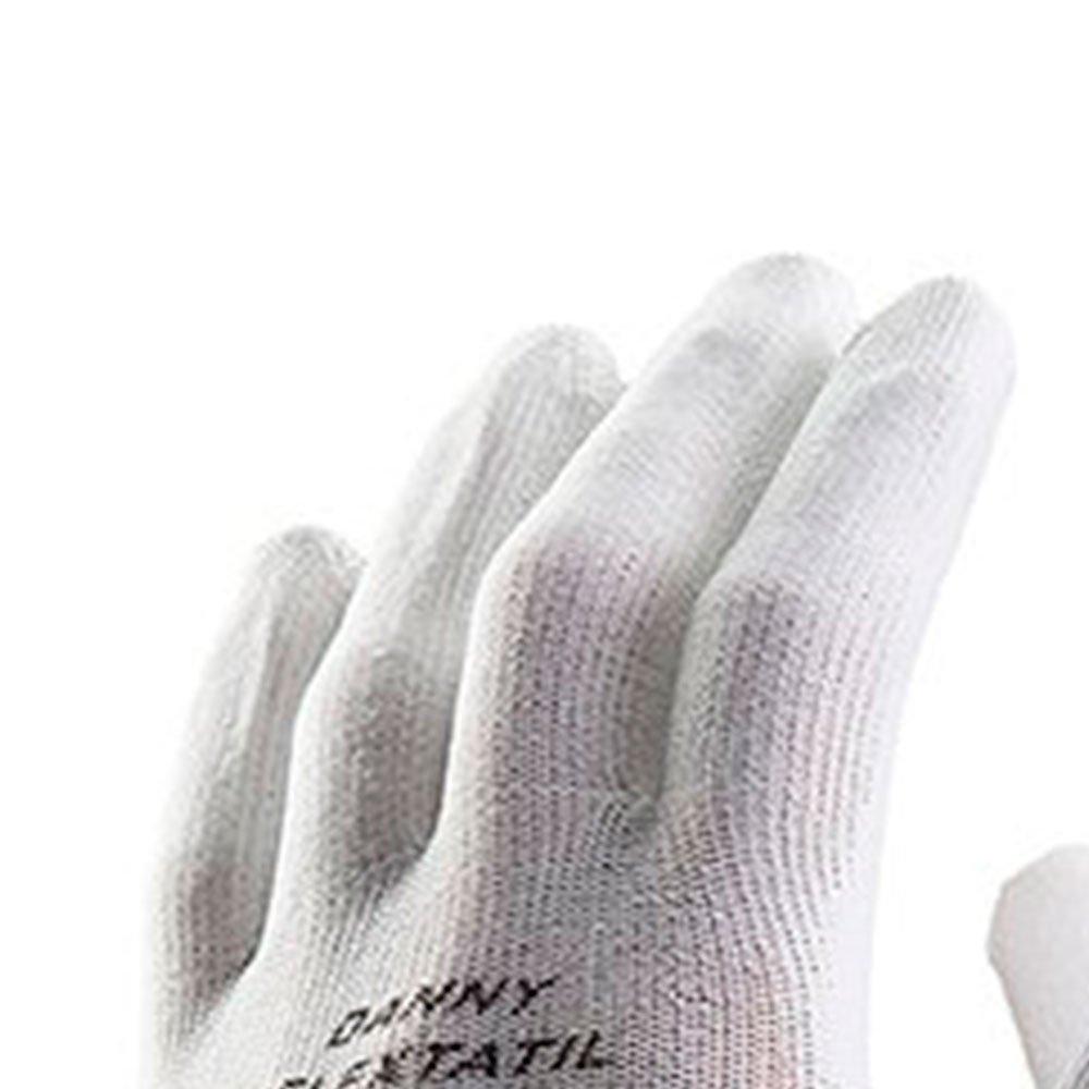 Luva de Segurança Flextáctil Branca em Nylon Tamanho M - Imagem zoom