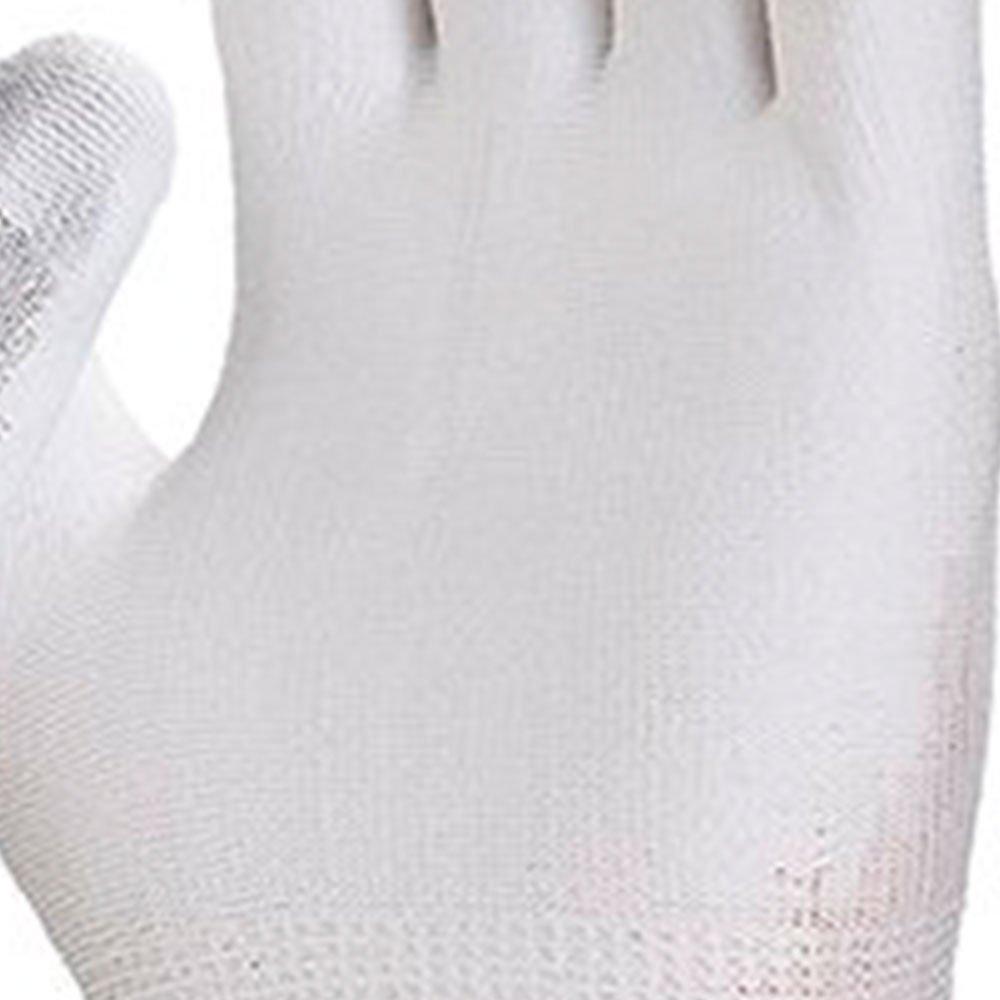 Luva de Segurança Flextáctil Branca em Nylon Tamanho P - Imagem zoom