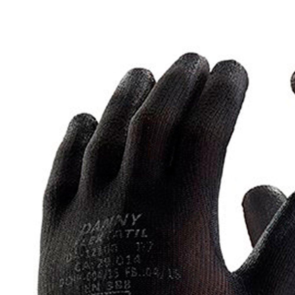 Luva de Segurança Flextáctil Preta em Nylon Tamanho G - Imagem zoom
