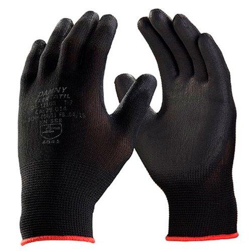 luva de segurança flextáctil preta em nylon tamanho m