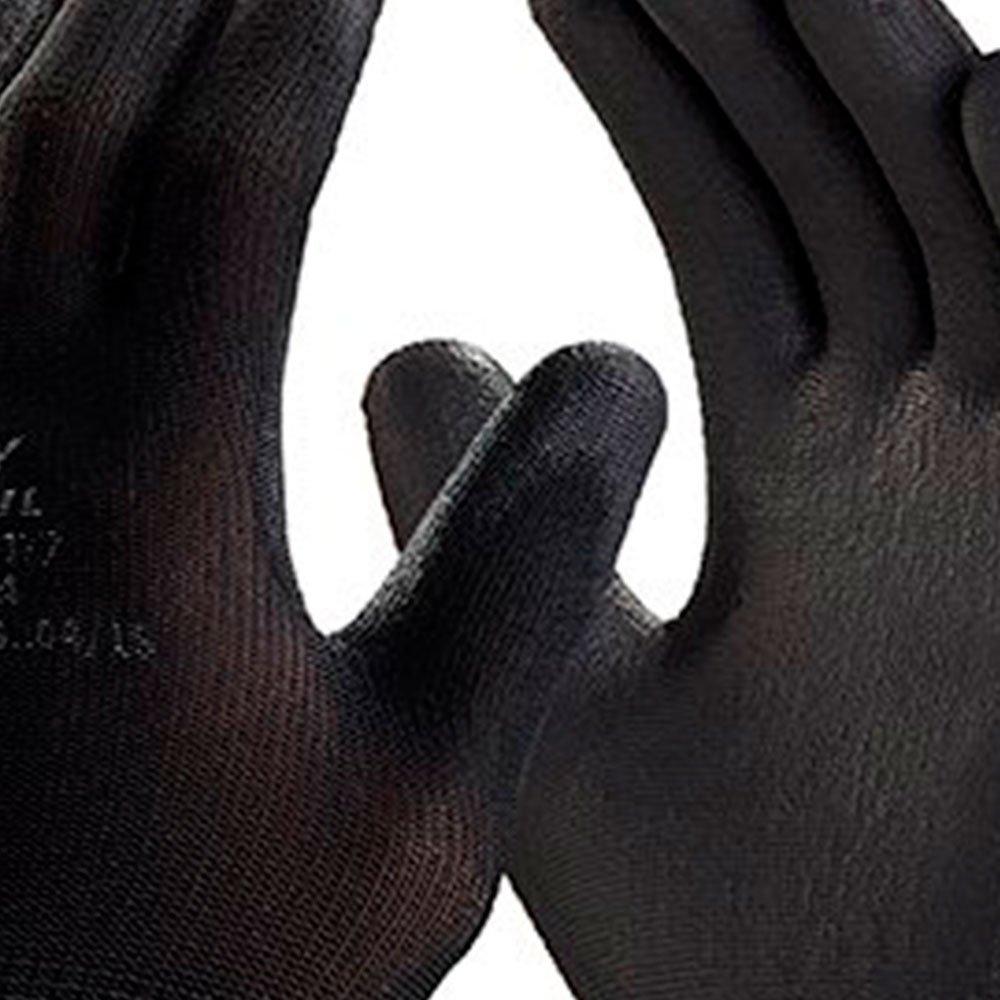 Luva de Segurança Flextáctil Preta em Nylon Tamanho M - Imagem zoom