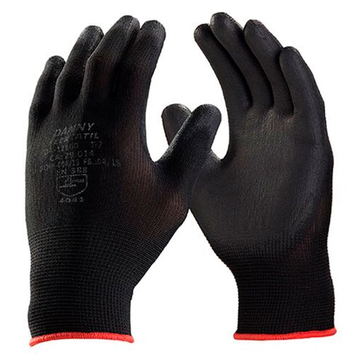 luva de segurança flextáctil preta em nylon tamanho xg