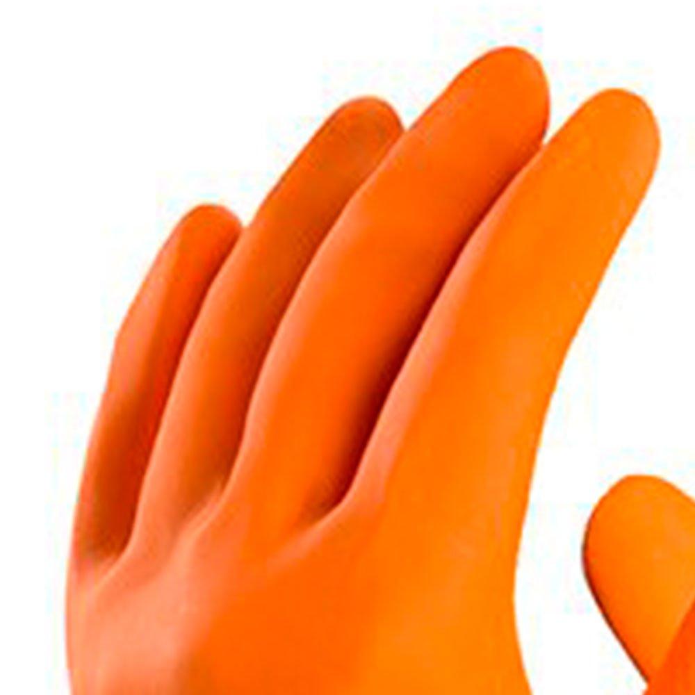 Luva de Segurança Max Orange com Látex Reforçada Tamanho G - Imagem zoom