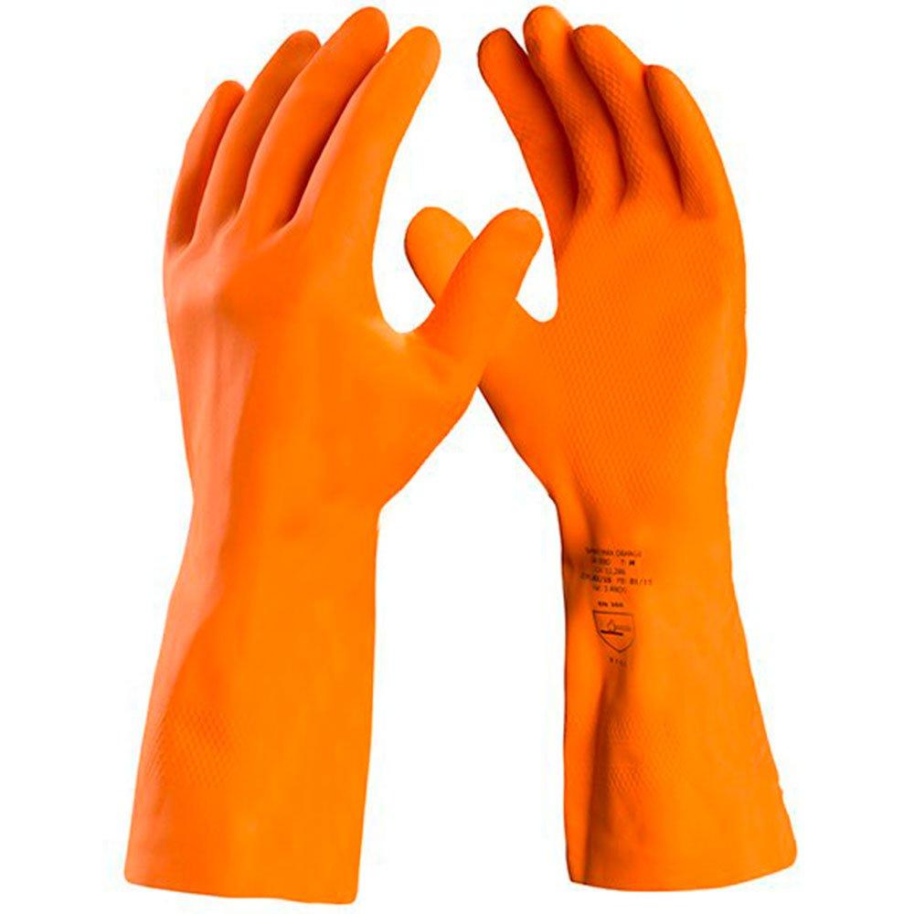 Luva de Segurança Max Orange com Látex Reforçada Tamanho P - Imagem zoom