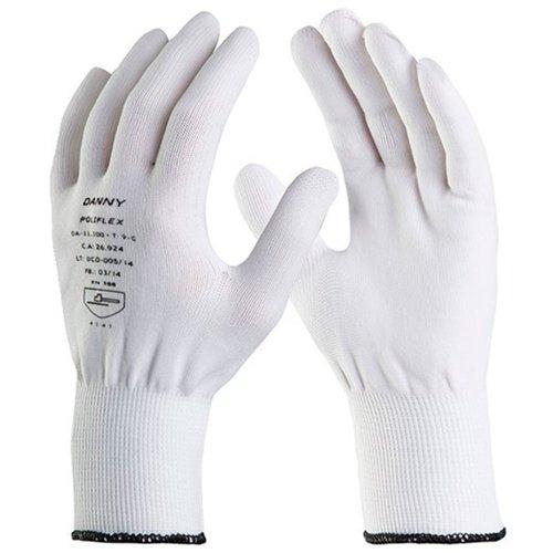 luva de segurança poliflex branca tricotada em nylon tamanho m