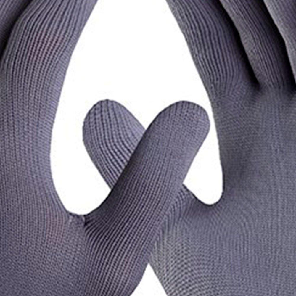 Luva de Segurança Poliflex Cinza Tricotada em Nylon Tamanho P - Imagem zoom