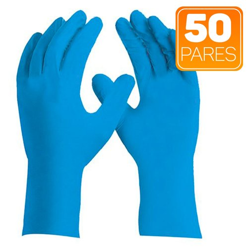 luva de segurança sensiflex premium azul tamanho m com 50 pares