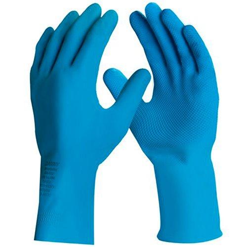 luva de segurança silver látex azul tamanho xg