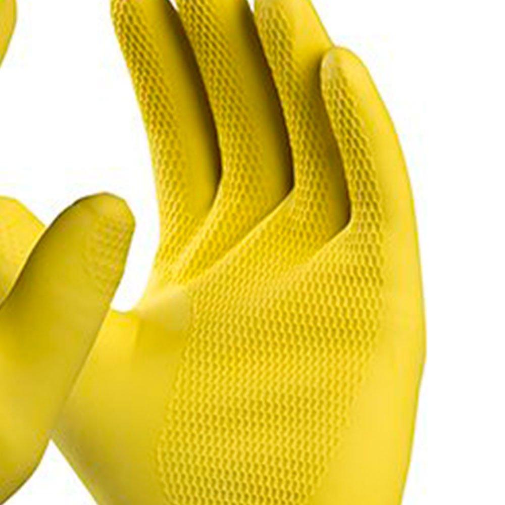Luva de Segurança Silver Látex Amarela Tamanho G - Imagem zoom