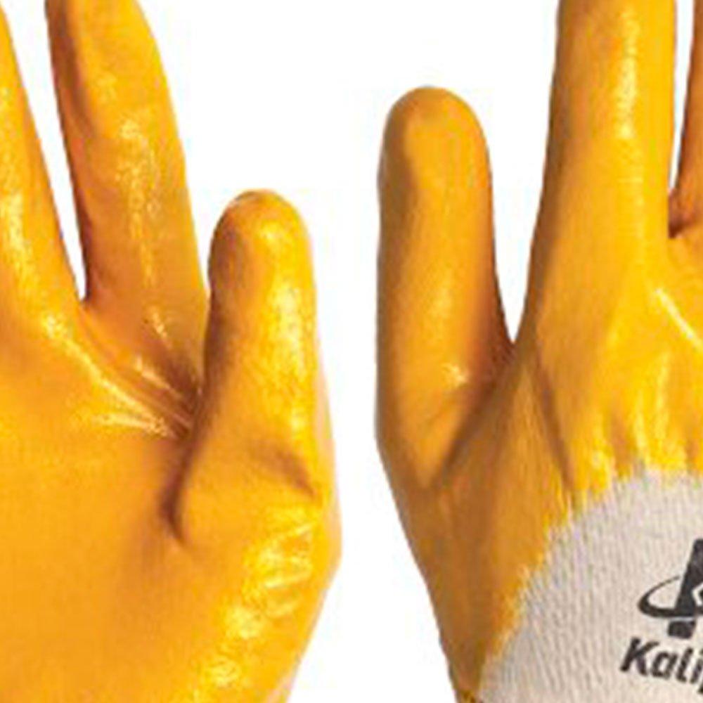 Luva de Segurança Nitrili-Ka20 Amarela Tamanho G - Imagem zoom