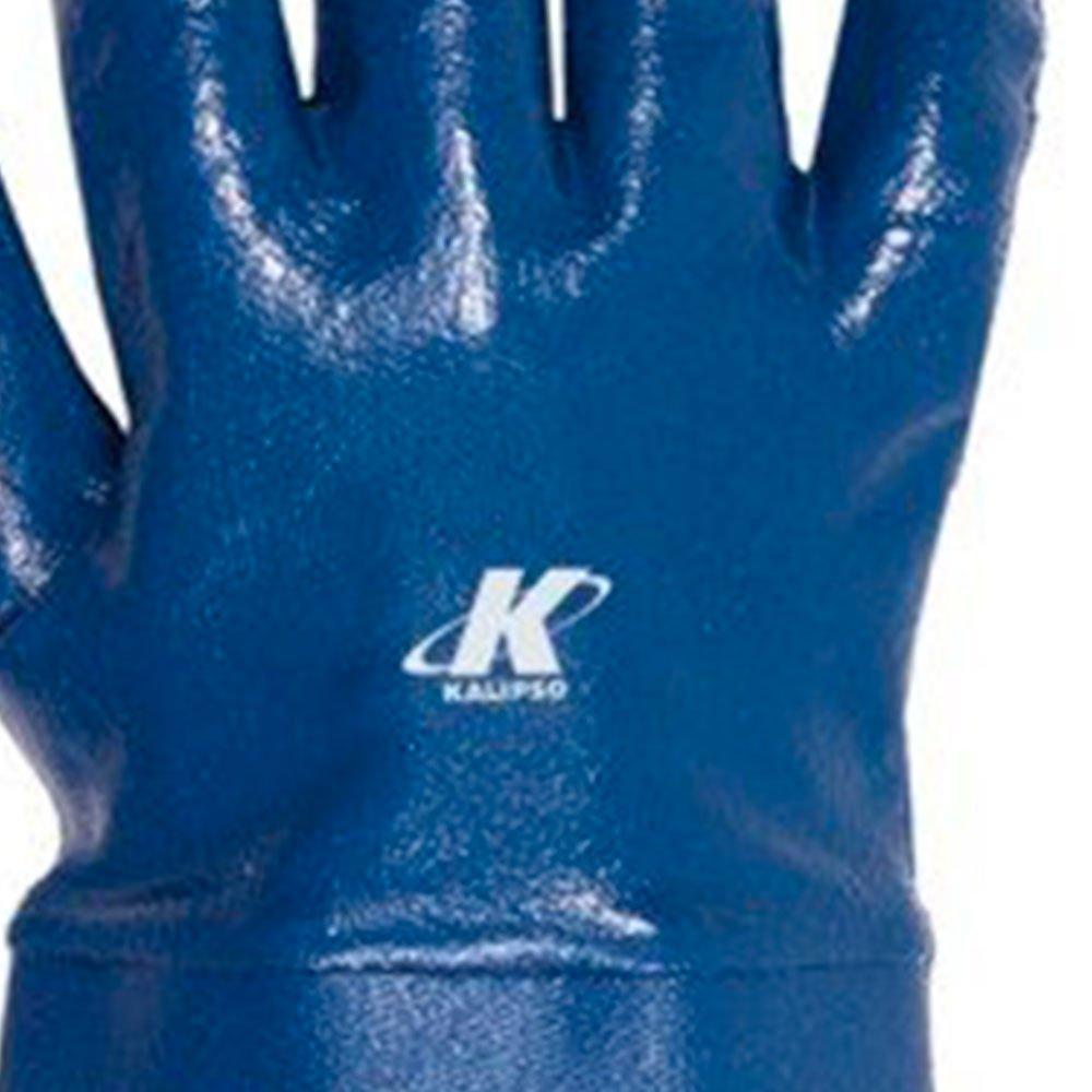 Luva de Segurança Nitrili-Ka35 Azul Punho em Lona Tamanho G - Imagem zoom