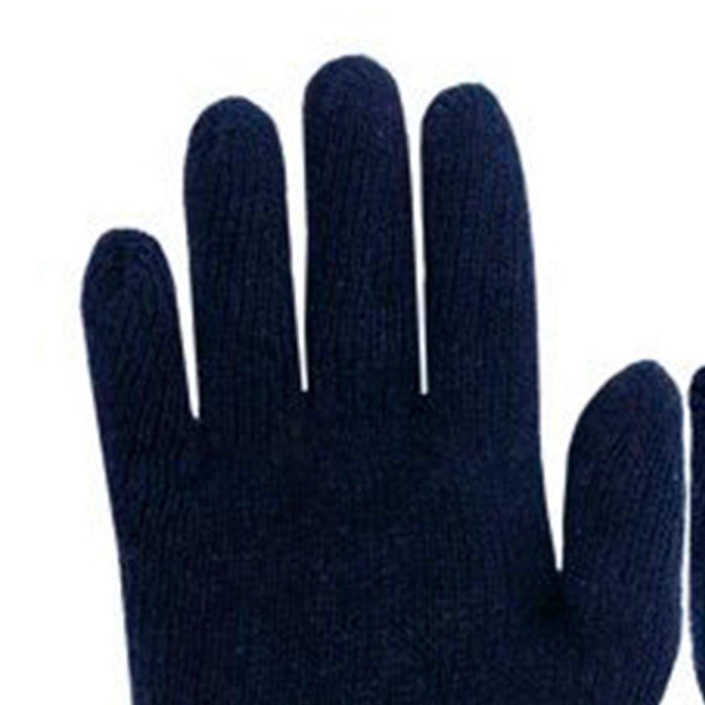 Luva de Segurança Tricotada Preta Tamanho M - Imagem zoom