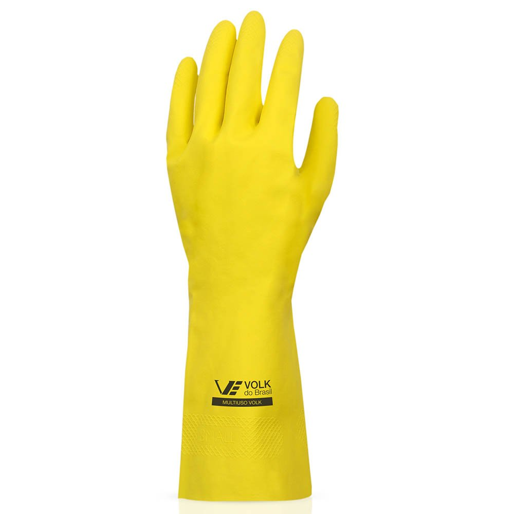 Luva Multiuso Látex Standard Amarelo com Forro - Grande - Imagem zoom