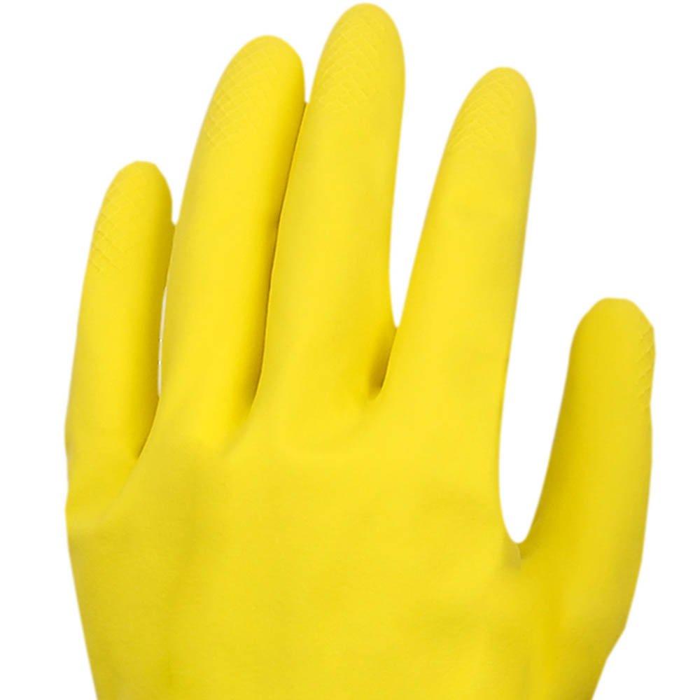 Luva Multiuso Látex Standard Amarelo com Forro - Extra Grande - Imagem zoom