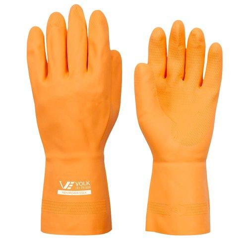 luva de látex laranja reforçada standard extra grande