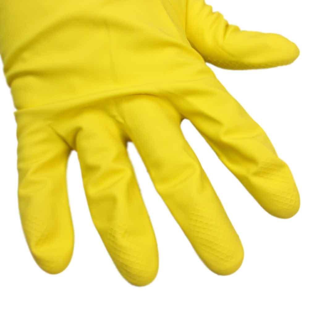 Luva Multiuso Látex Amarelo - Tamanho M - Imagem zoom