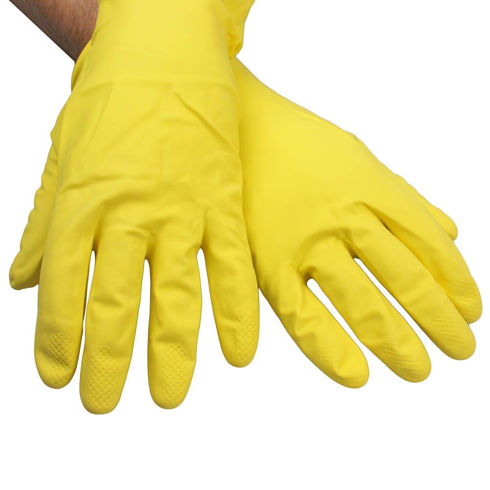 Luva Multiuso Látex Amarelo - Tamanho G - Imagem zoom