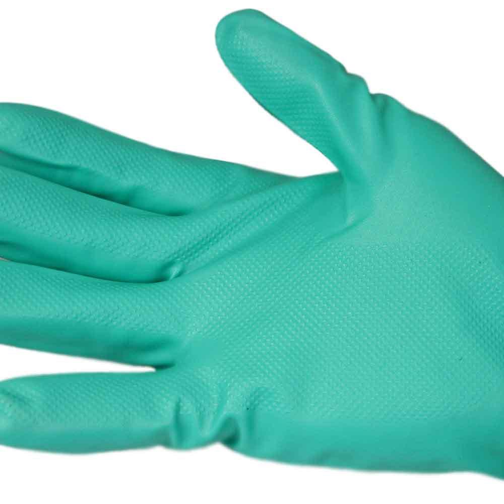 Luva de Látex Nitrílico Verde Tamanho M - Nitrili KA 10 - Imagem zoom