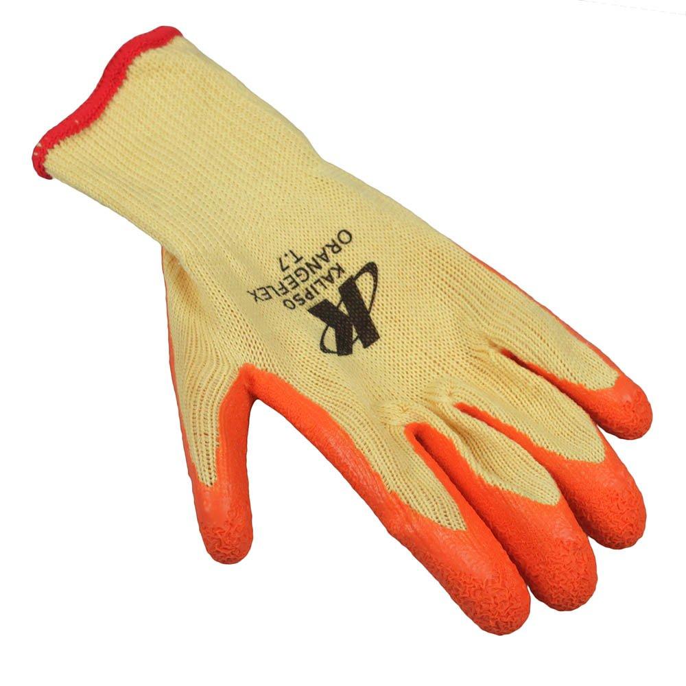 Luva de Segurança Tricotada com Látex Tamanho P - Orange Flex - Imagem zoom