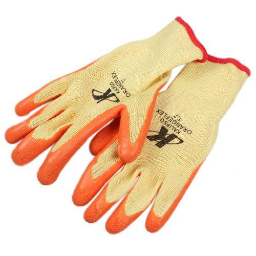 luva de segurança tricotada com látex tamanho g - orange flex