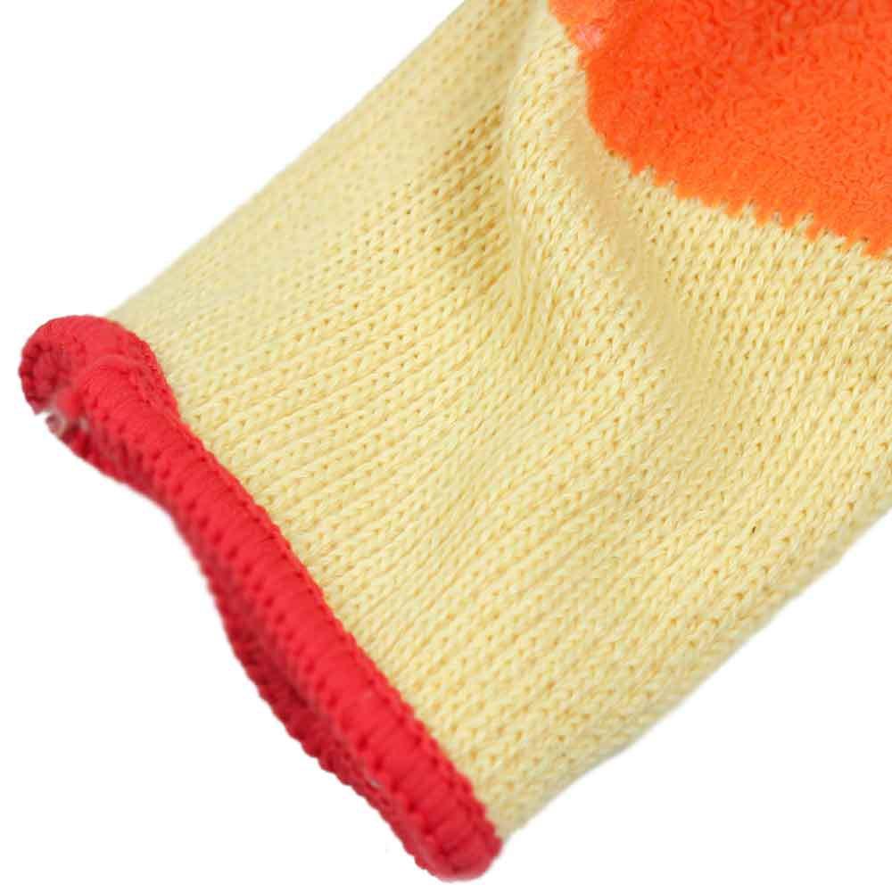 Luva de Segurança Tricotada com Látex Tamanho G - Orange Flex - Imagem zoom
