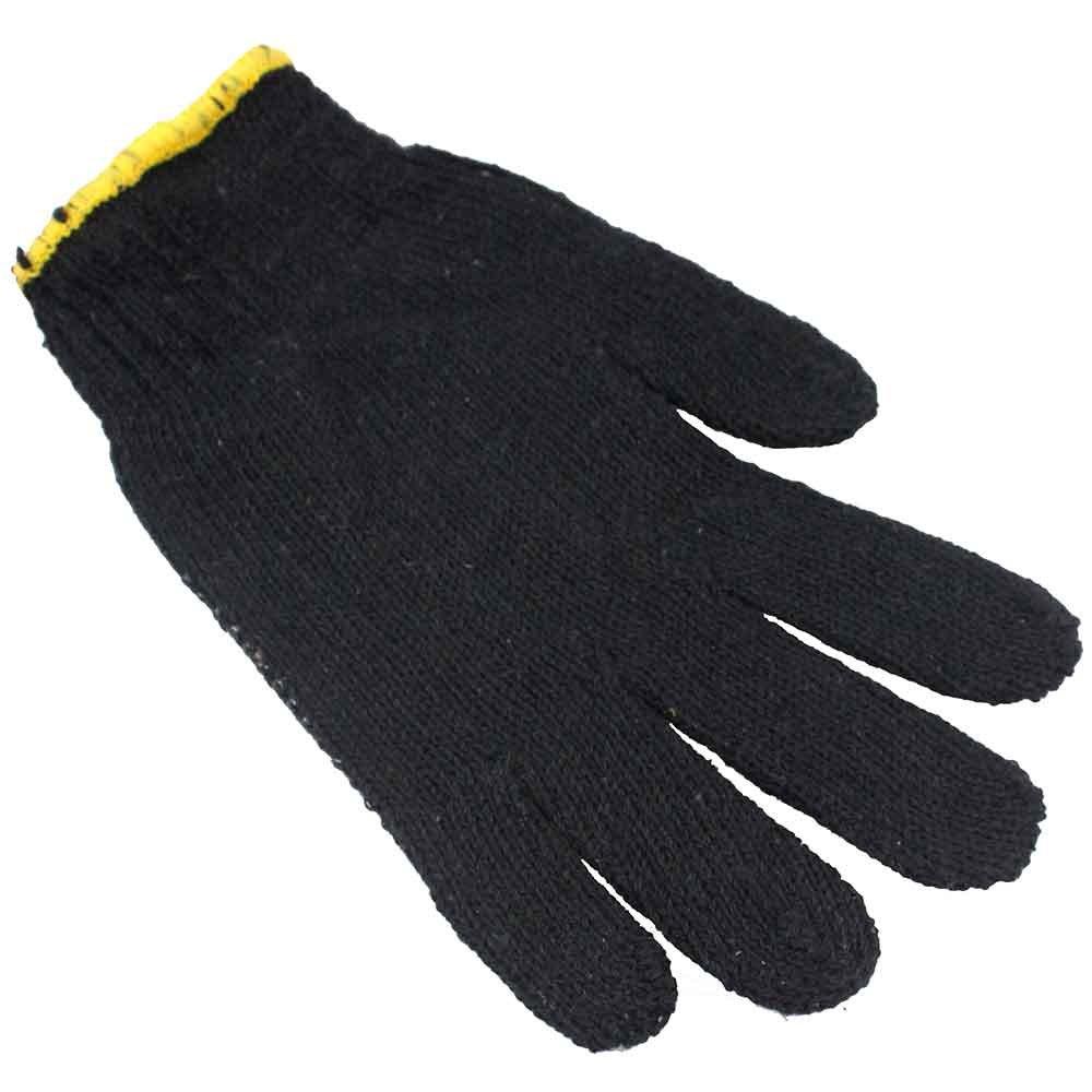 Luva de Segurança Tricotada Preta Pigmentada - Tamanho M - Imagem zoom