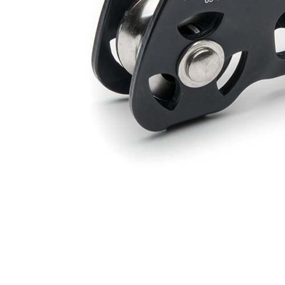 Polia Dupla em Linha para Corda ou Cabo de Aço de até 12mm - Imagem zoom