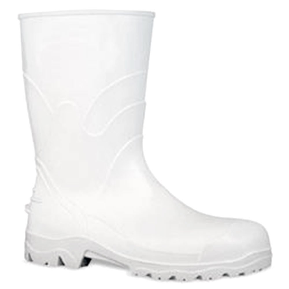 Bota PVC Branca com Forro Cano 30cm n°37 - Imagem zoom