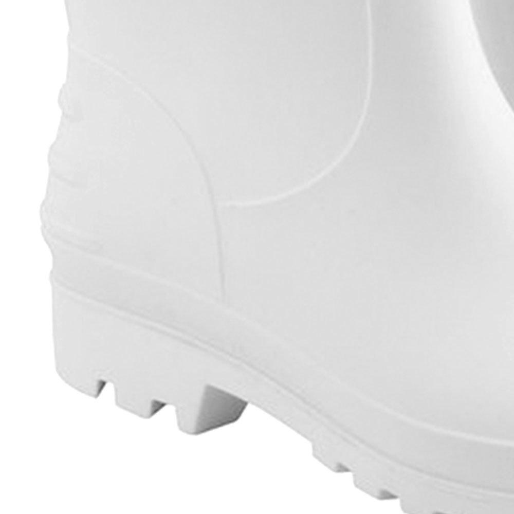 Bota de PVC Branca sem Forro Cano Médio n°39/40 - Imagem zoom