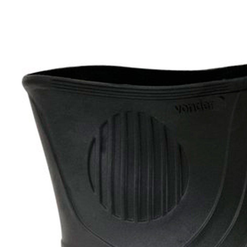 Bota em PVC Cano Médio 43/44 com Forro Preto/Amarelo - Imagem zoom